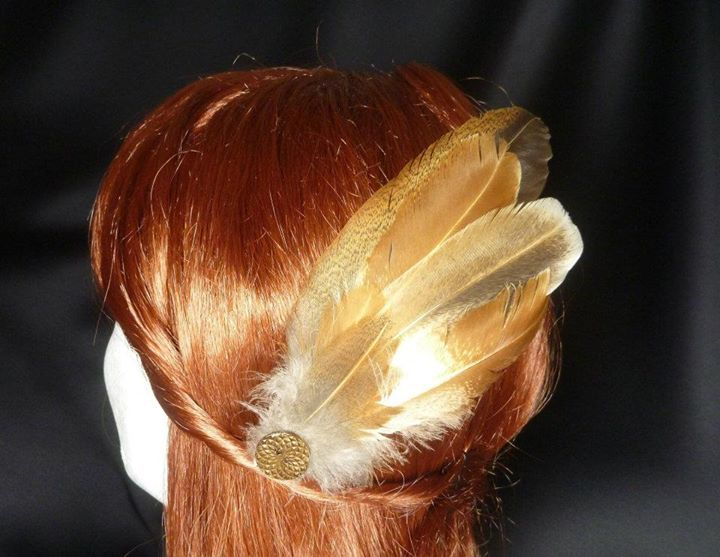 Native Australian Feather Pin - Top End Millinery