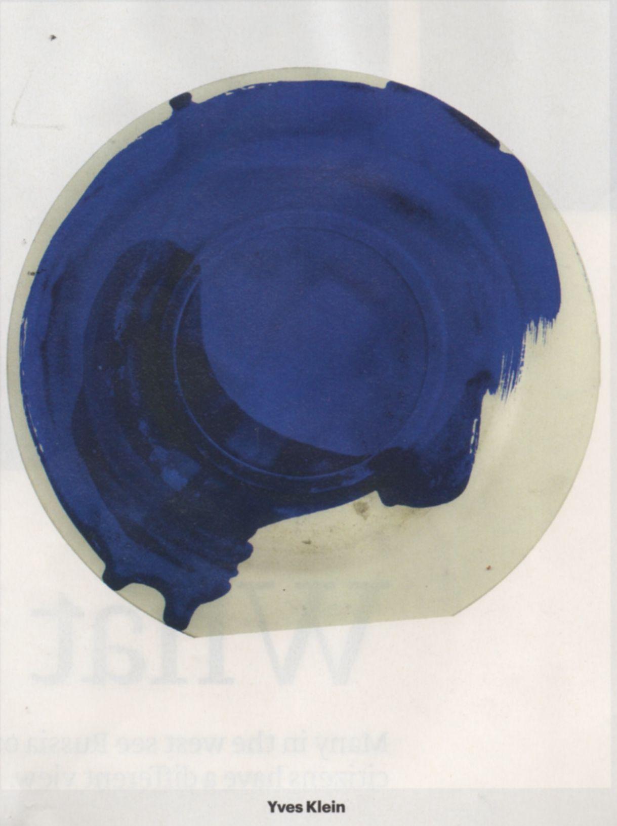 Yves Klein Artist Palette. Photographed by Matthias Schaller, 'Das MeisterStuck' Fondazione Giorgio Cini, May 2015