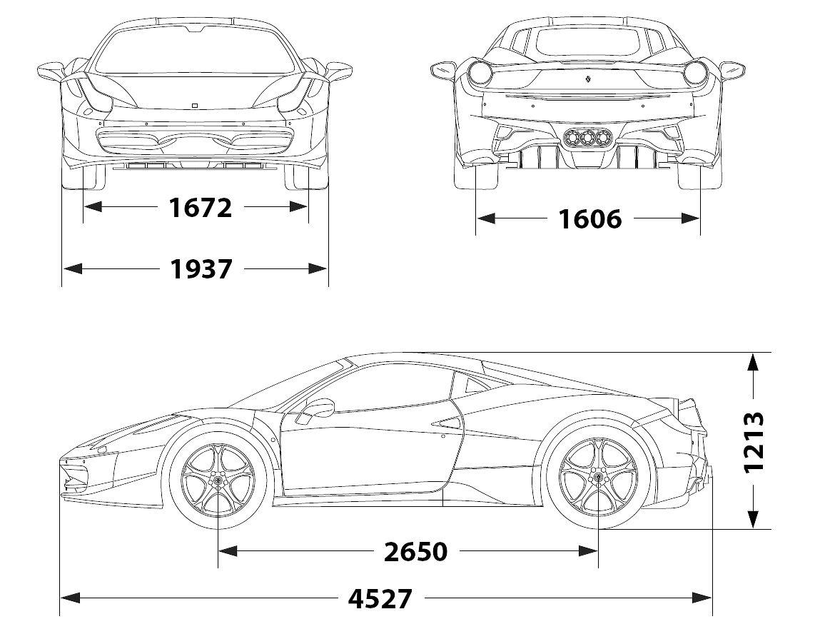 Ferrari 458 Italia (2010) | SMCars.Net - Car Blueprints Forum