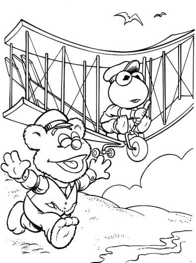 Muppet Babies Visit The Fifty States Baby Coloring Pages Coloring Pages Disney Coloring Pages