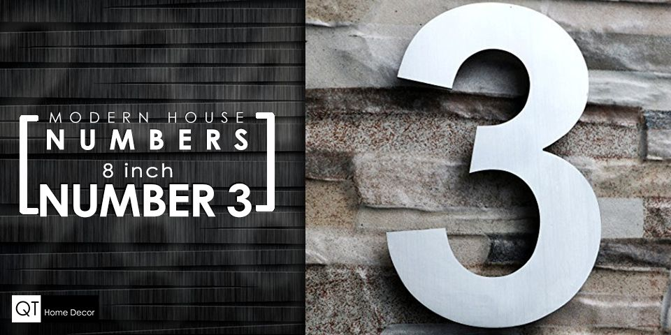 Modern Floating House Numbers And Letters All Available In Many Sizes Size 4