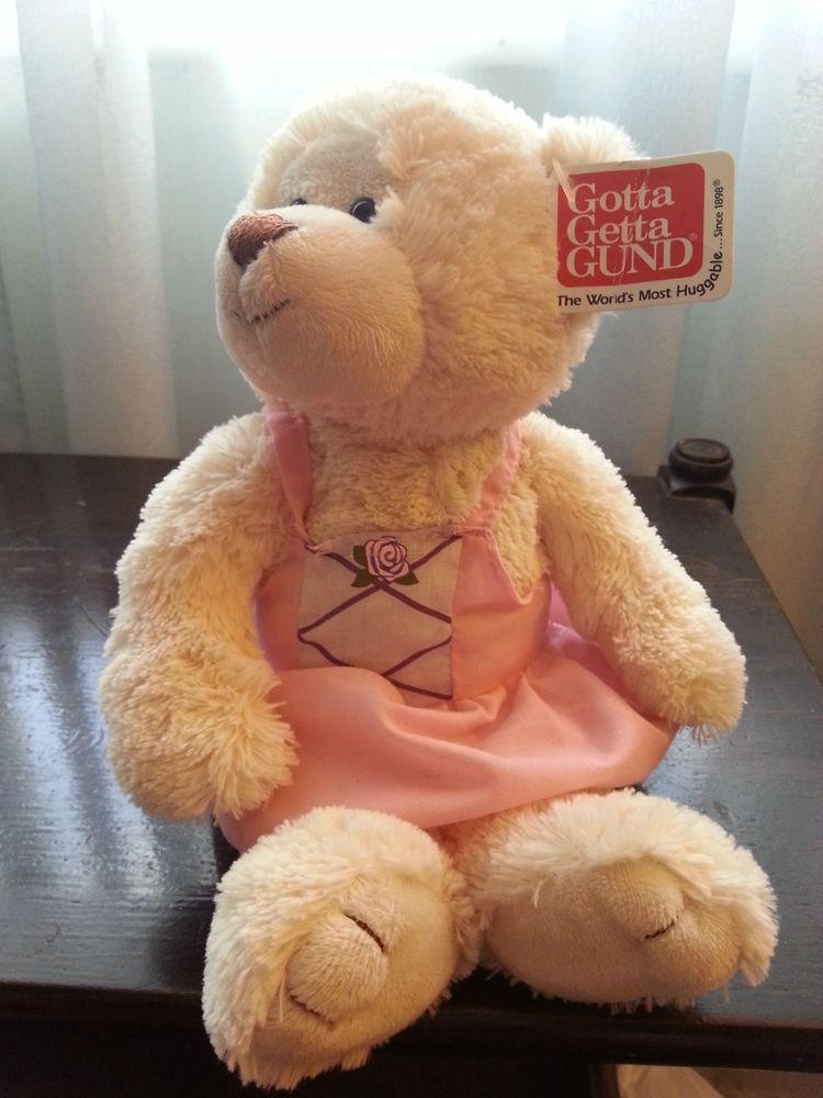 Gund Just For Her Vase Huggers  Teddy Bear Plush Doll  021049