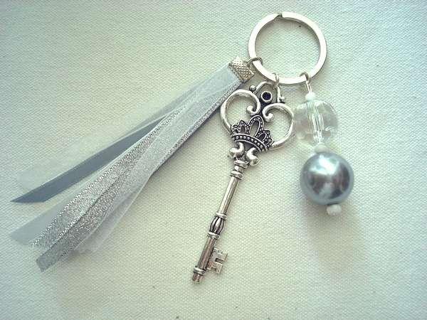 Porte Clés Perle Et Clé Ancienne Clé Originale Pinterest - Porte clé femme original