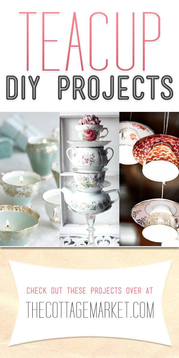 21 Creative Upcycled Teacup Projects | DIY Ideas | Teacup ...