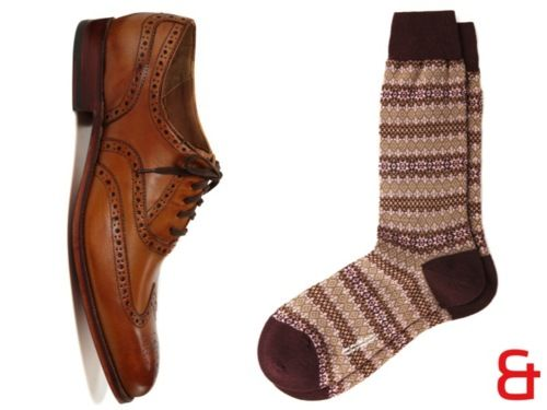Pantherella's merino wool fair isle socks. | Fashion | Pinterest