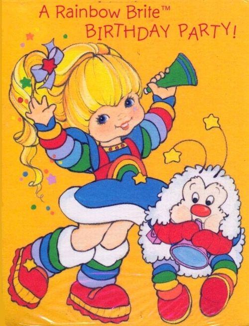 Rainbow Brite Rainbow Brite Birthday Rainbow Brite 80s Cartoons