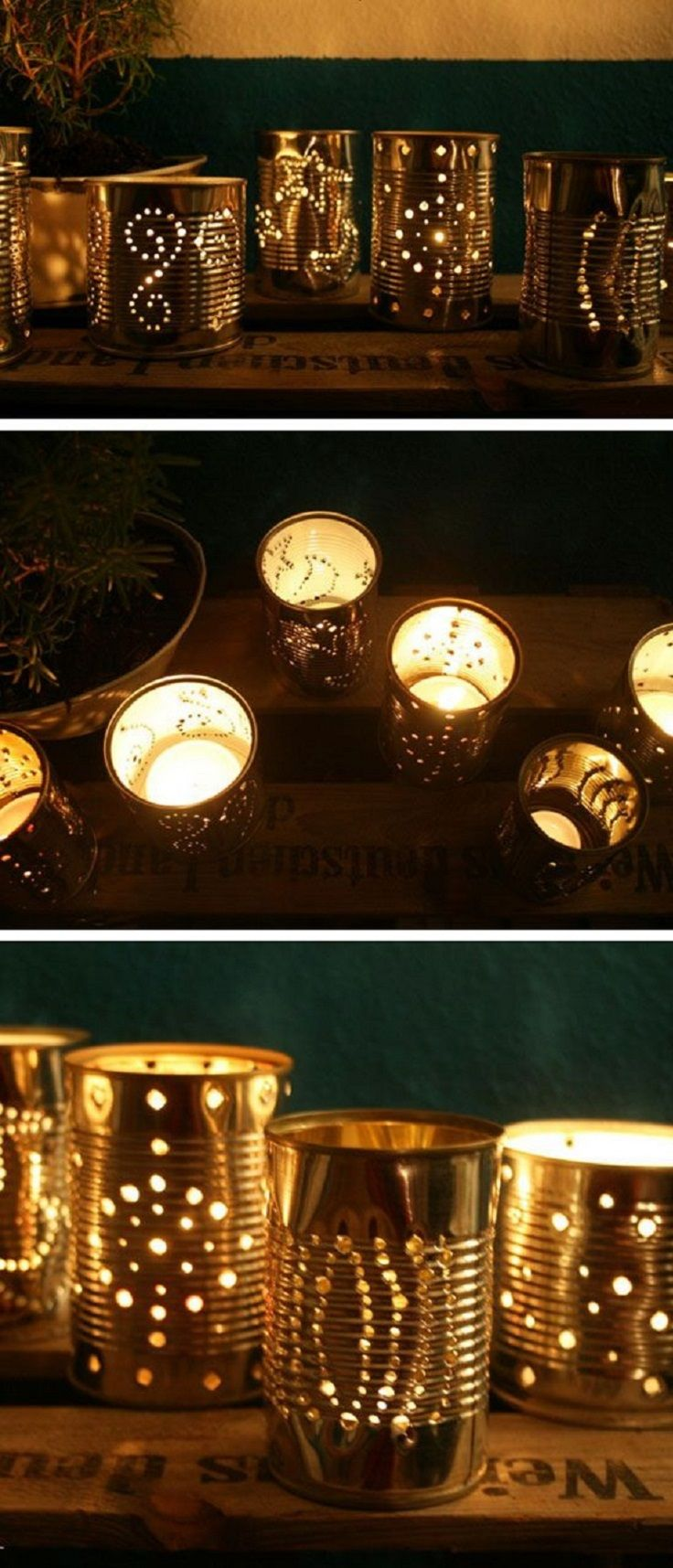 Tin Can Diy Lanterns A Hyper Creative Diy Outdoor Lighting Idea For Your Backyard Tin Can Lanterns Diy Lanterns Diy Candle Holders