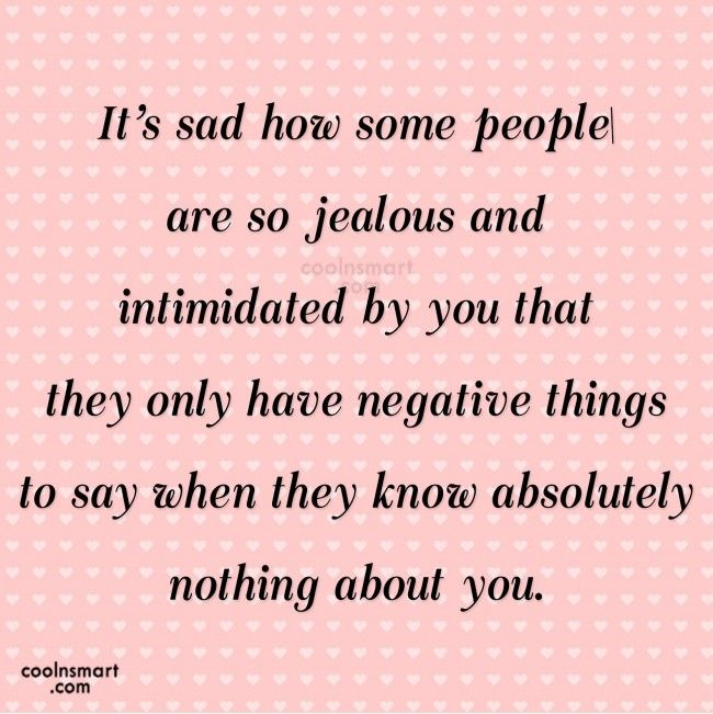 Jealousy Quote: It\'s sad how some people are so... | A - MY New ...
