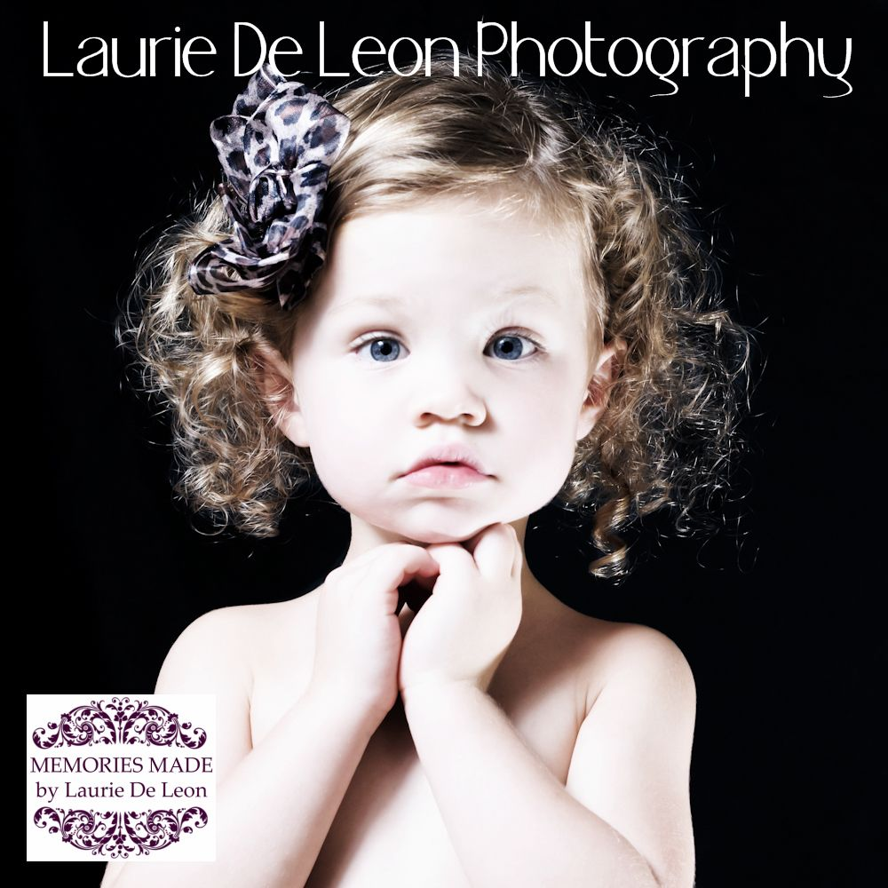 Adorable 3 year old girl photographed by www.LaurieDeLeonPhotography.com