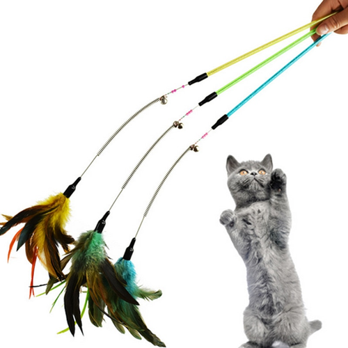 Strong Toyers New Pet Cat Toy Kitten High Quality Pet Cat Feather
