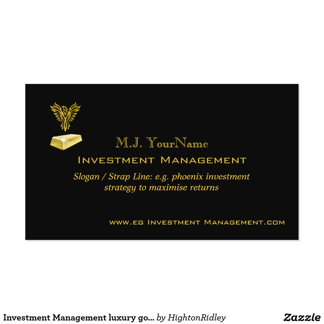 Investment management luxury gold on black phoenix business card investment management luxury gold on black phoenix business card colourmoves