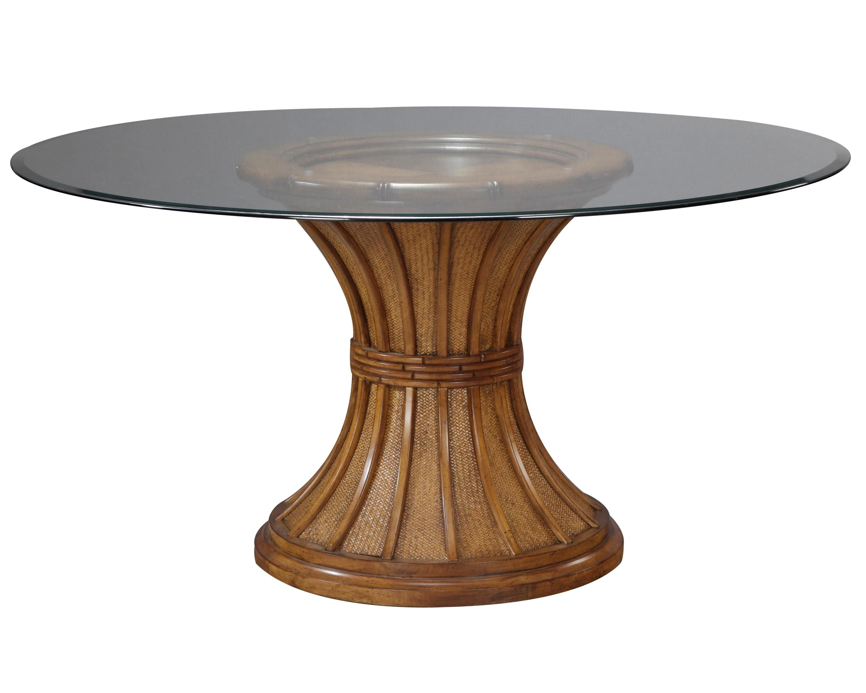 extraordinary glass top dining table with rounded brown wooden