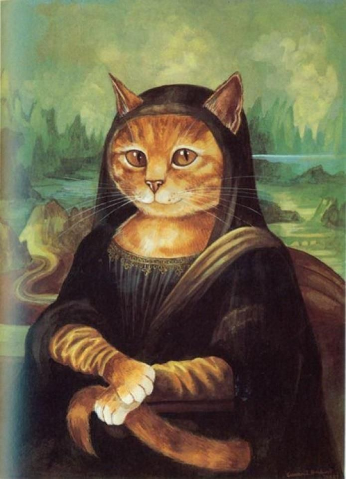 Mona Kitty Cats Photoshopped Into Famous Works Of Art Pinterest