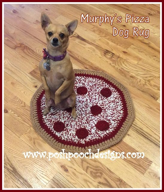 Murphy\'s Pizza Dog Rug Crochet Pattern | Posh Pooch Designs ...
