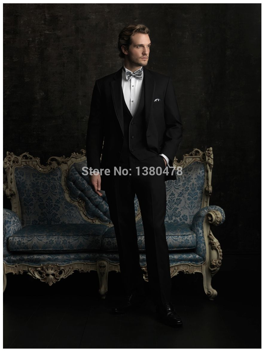 Click to buy ucuc most popular black groom tuxedos best man suits