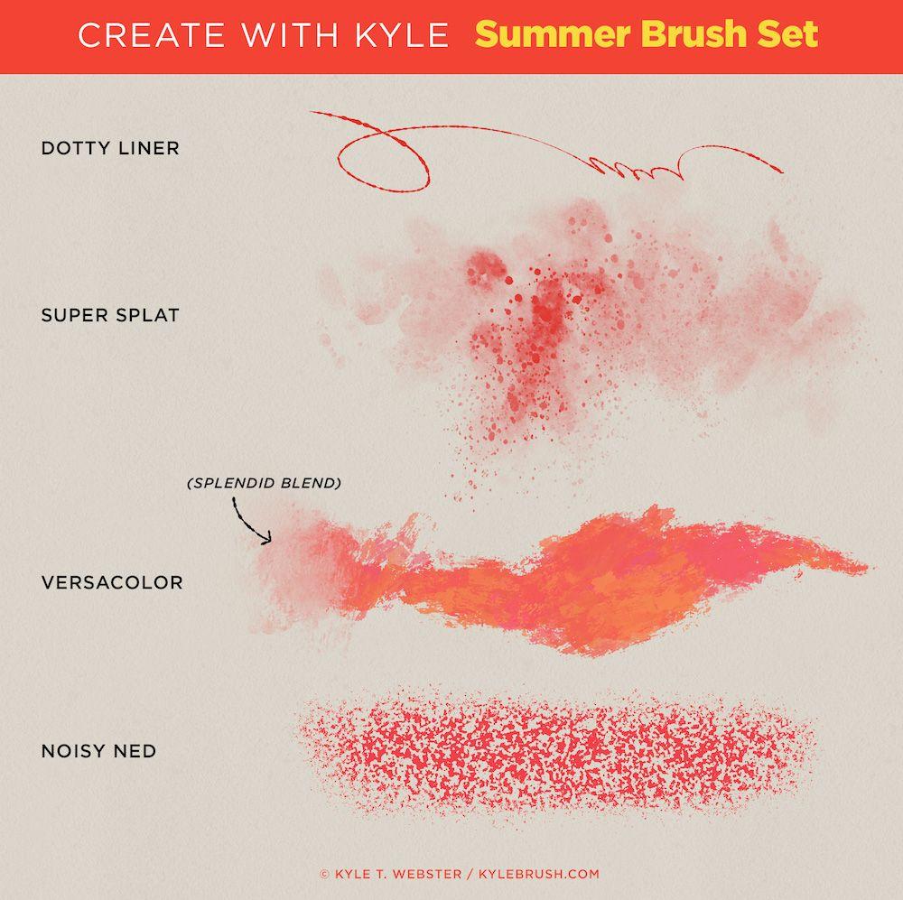 Kyle T Webster Summer Brush Set Tutorial Affiliate Summer