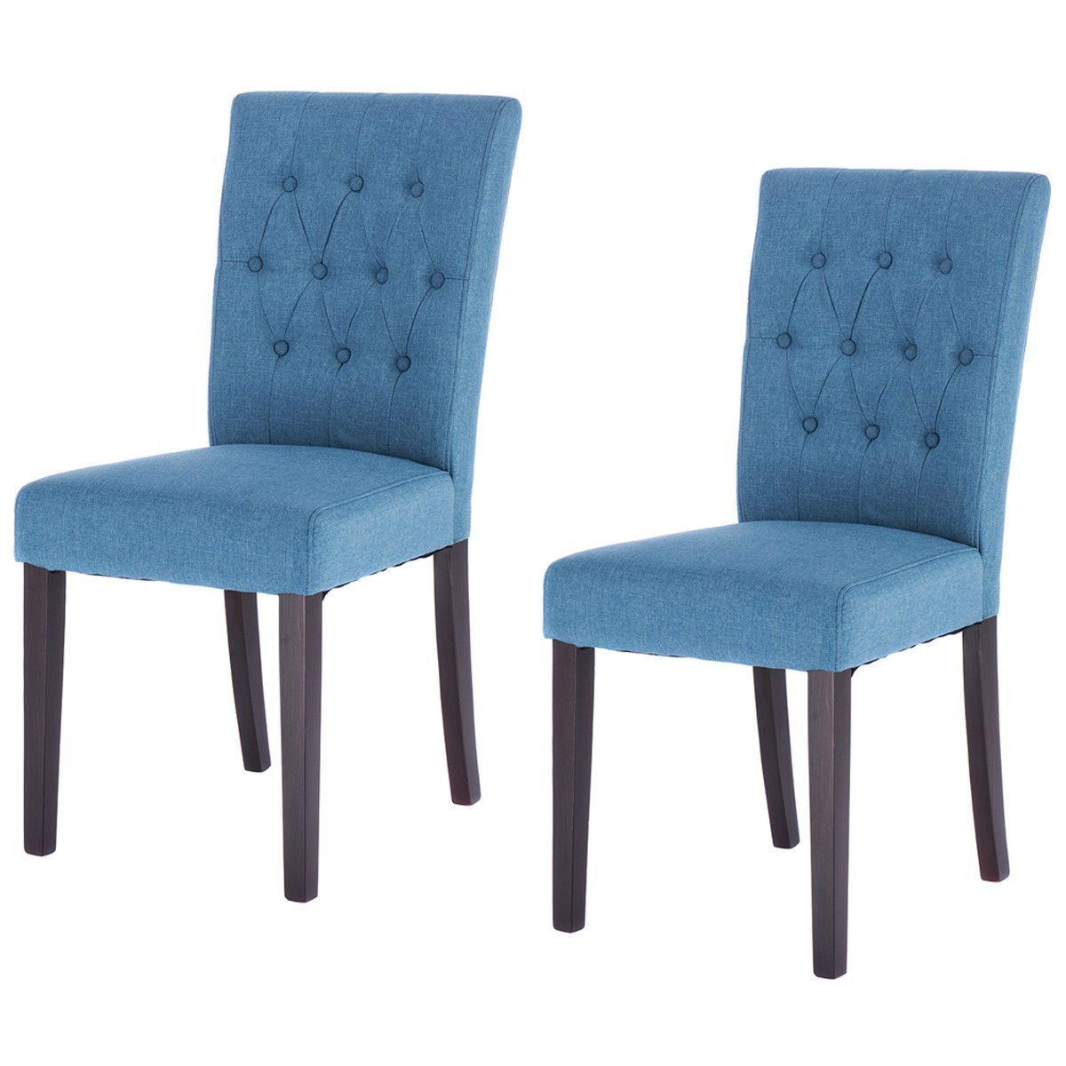 Surprising Giantex Set Of 2Pcs Modern Fabric Dining Chair Armless Gmtry Best Dining Table And Chair Ideas Images Gmtryco
