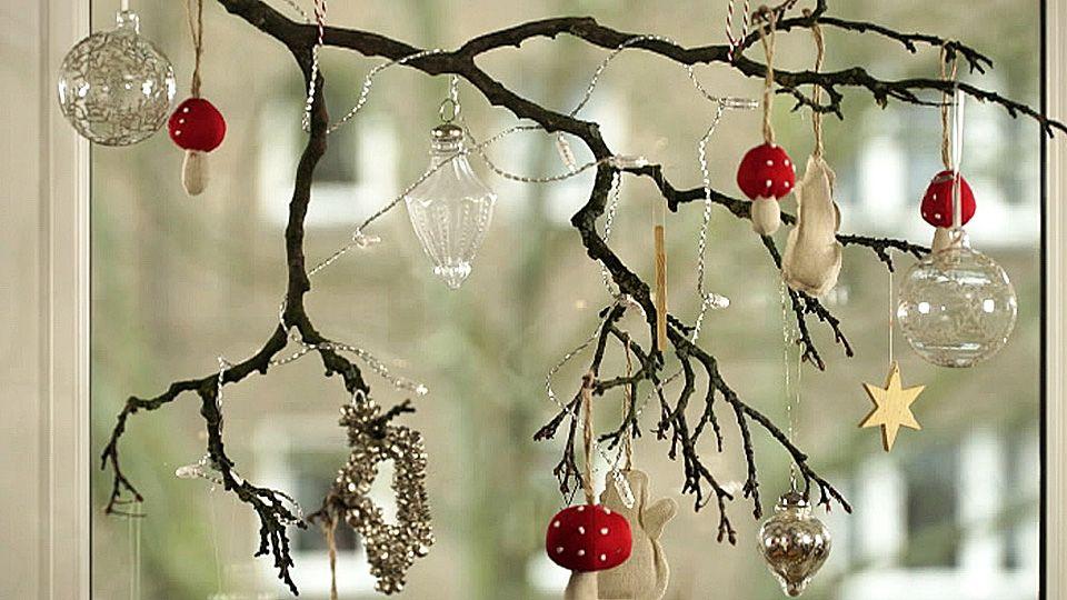 Weihnachtsdeko basteln - kreative Fenster-Deko selber machen ...