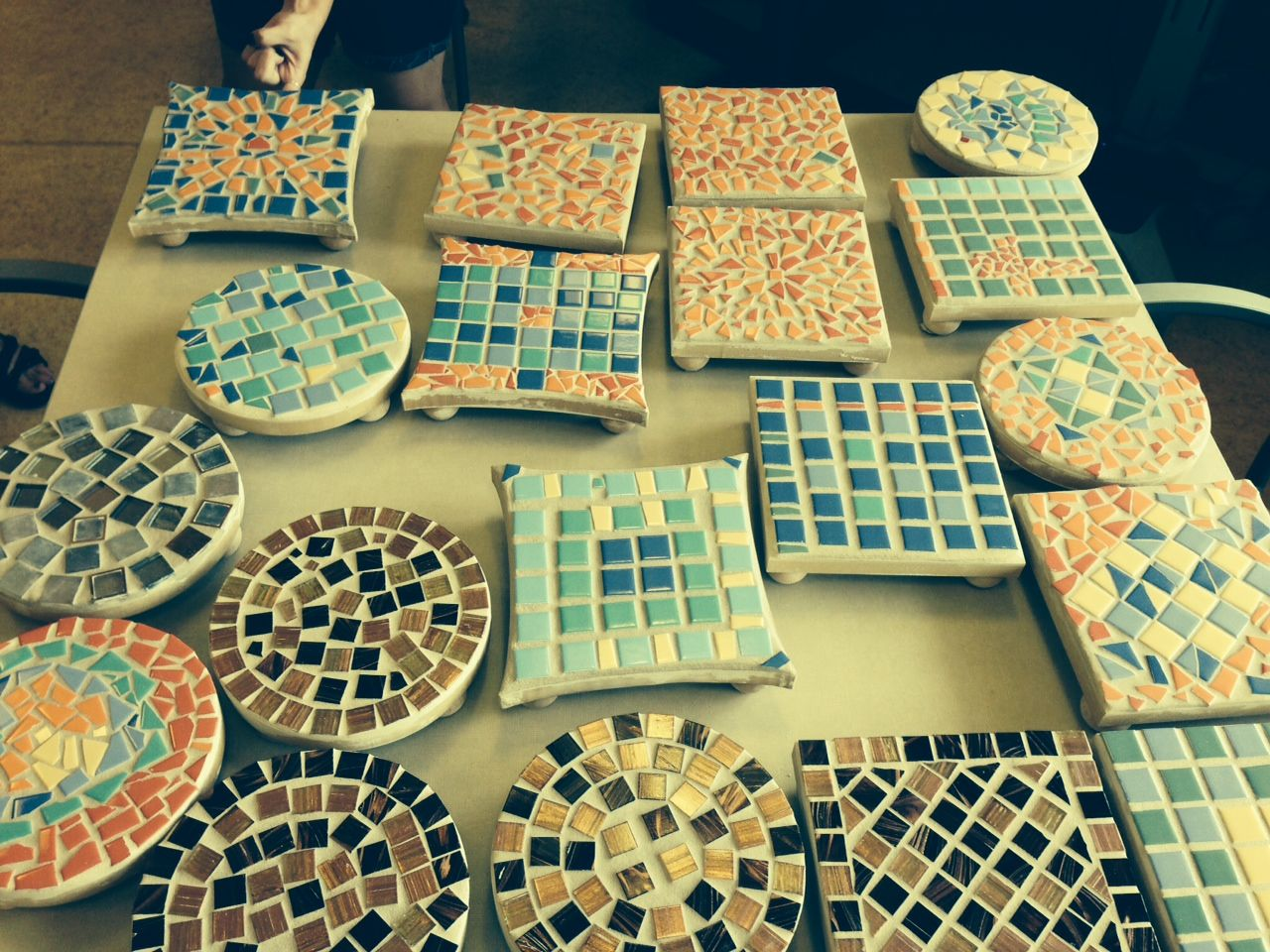 Tile Mosaic Trivets This Project Was Fun For Seniors And