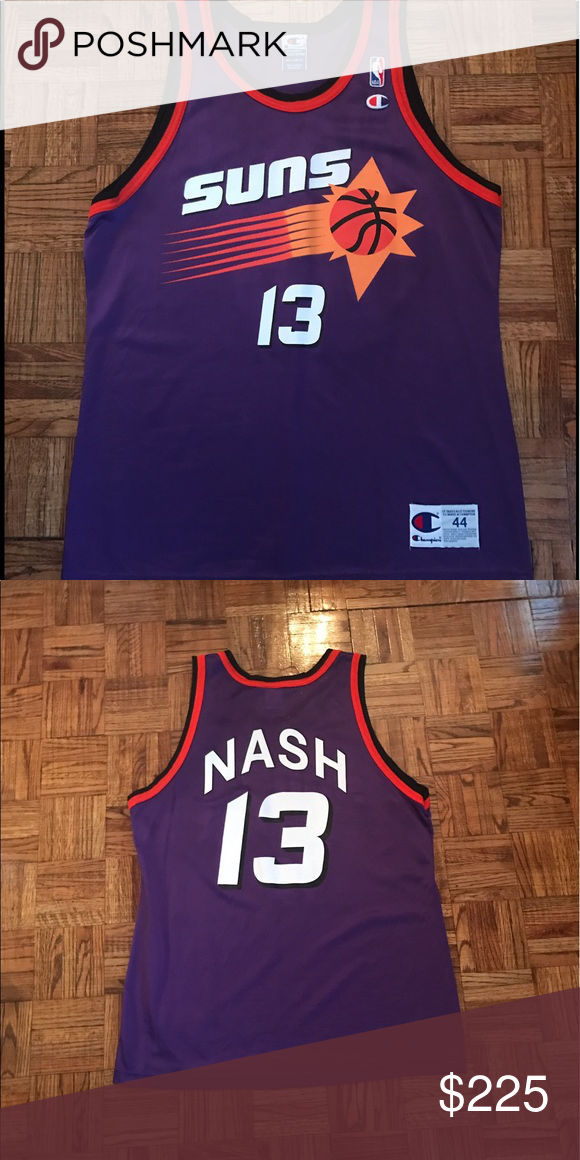 hot sale online d2035 1c5ae Steve Nash Vintage Champion Jersey Sz 44 96' Very rare NBA ...