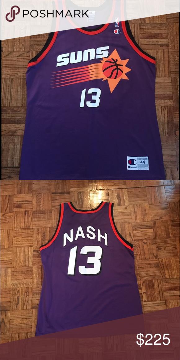 hot sale online 493c3 abdf1 Steve Nash Vintage Champion Jersey Sz 44 96' Very rare NBA ...