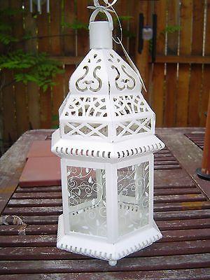 15 Bulk 12 Chic White Shabby Moroccan Candle Lantern Holder