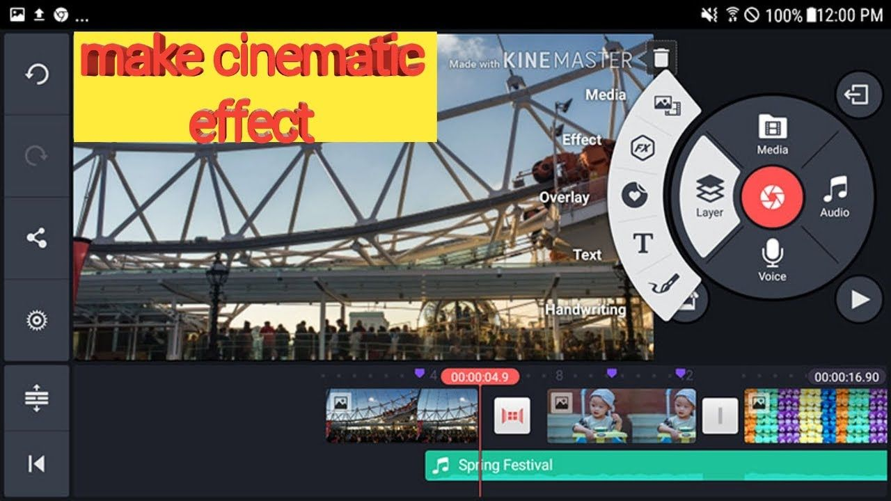 How to make cinematic effect in videos WITH KINEMASTER IN