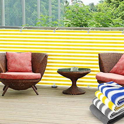 Balkon Sichtschutz UV-Schutz 90x500cm wetterbeständiges und - pflegeleichter garten modern