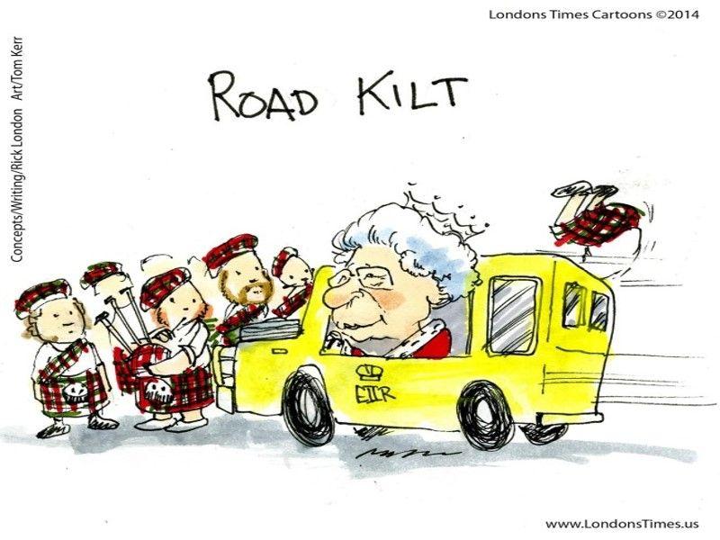 Road Kilt By Ltcartoons Brexit Uk Politics Humor Funnies