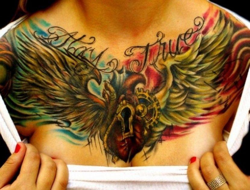 Tatuajes en el pecho para mujeres Tattos, Tatoos and Tattoo
