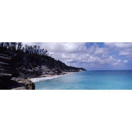 Clouds over the sea Bermuda Canvas Art - Panoramic Images (36 x 13)