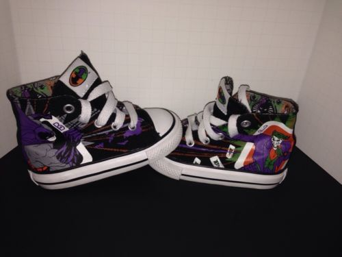65233ec760fc Toddler Infant CONVERSE All Star DC Comics Batman Robin Sneaker High Top  Shoe 5