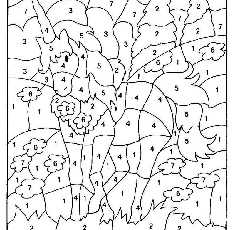 Color By Number Coloring Pages Printable di 2020