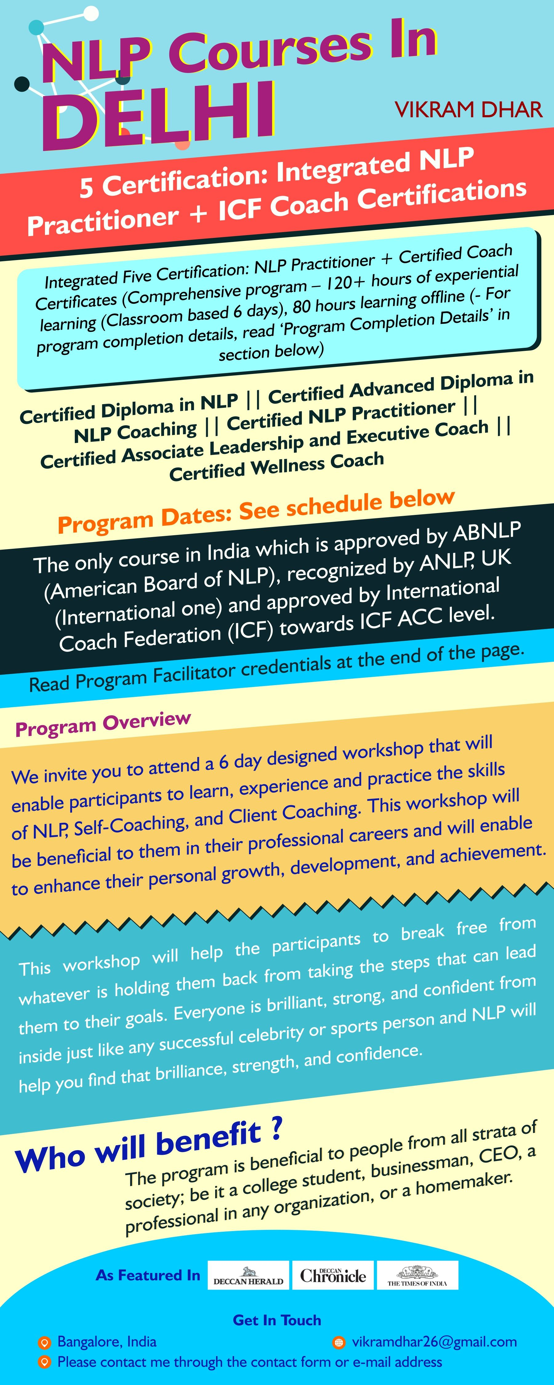 Nlp courses in delhi with Vikram Dhar Vikram is an ...