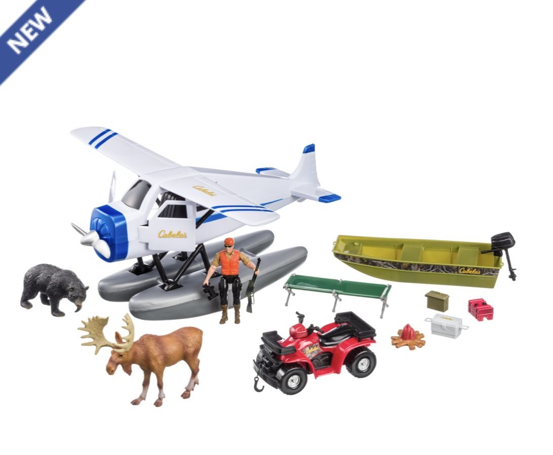 Cabela S Float Plane Hunting Adventure Play Set Hunting Toys Cool Toys Toys For Boys