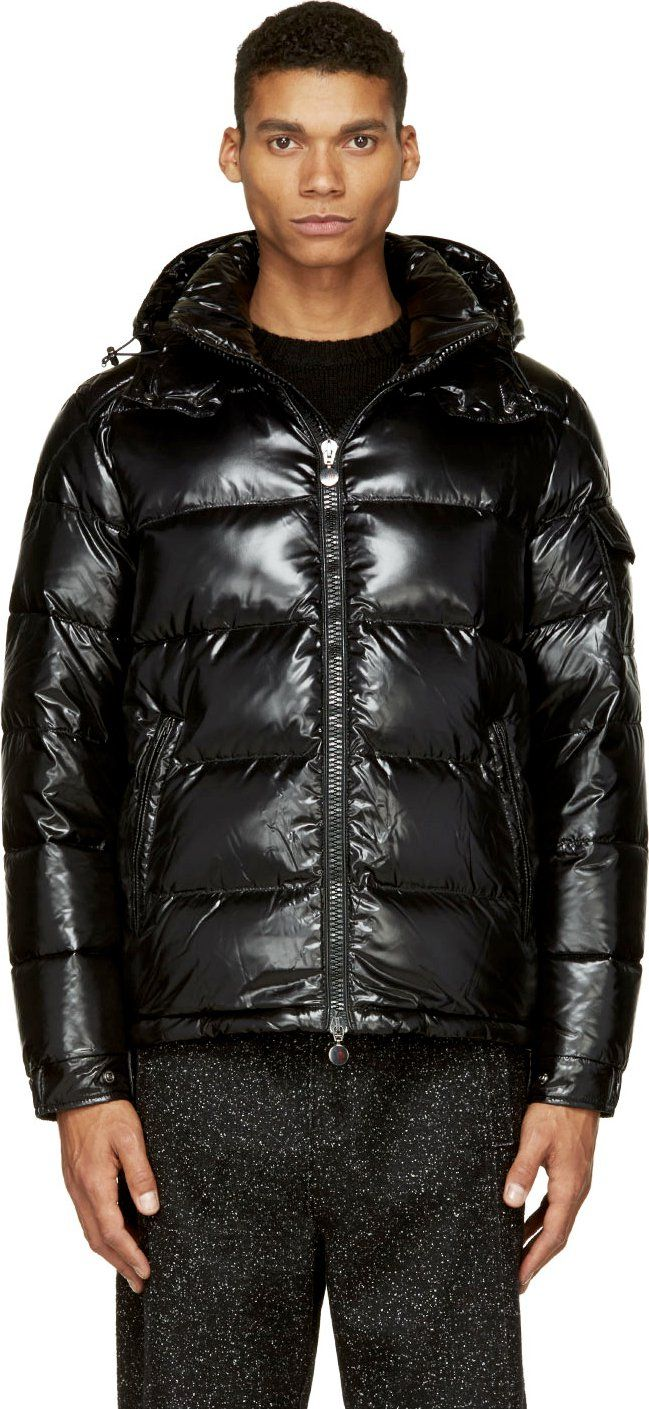 Moncler Black Quilted Down Maya Jacket Mens outfits