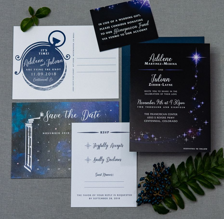 Dr Who Wedding Invitations Theme