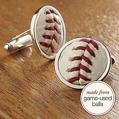 Love the baseball cufflinks!