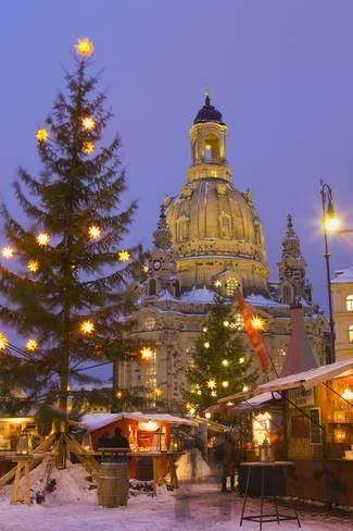 Christmas Market In The Neumarkt With The Frauenkirche Church In The Background Photographic Print Miles Ertman Art Com Christmas In Europe Christmas Market Christmas In Germany