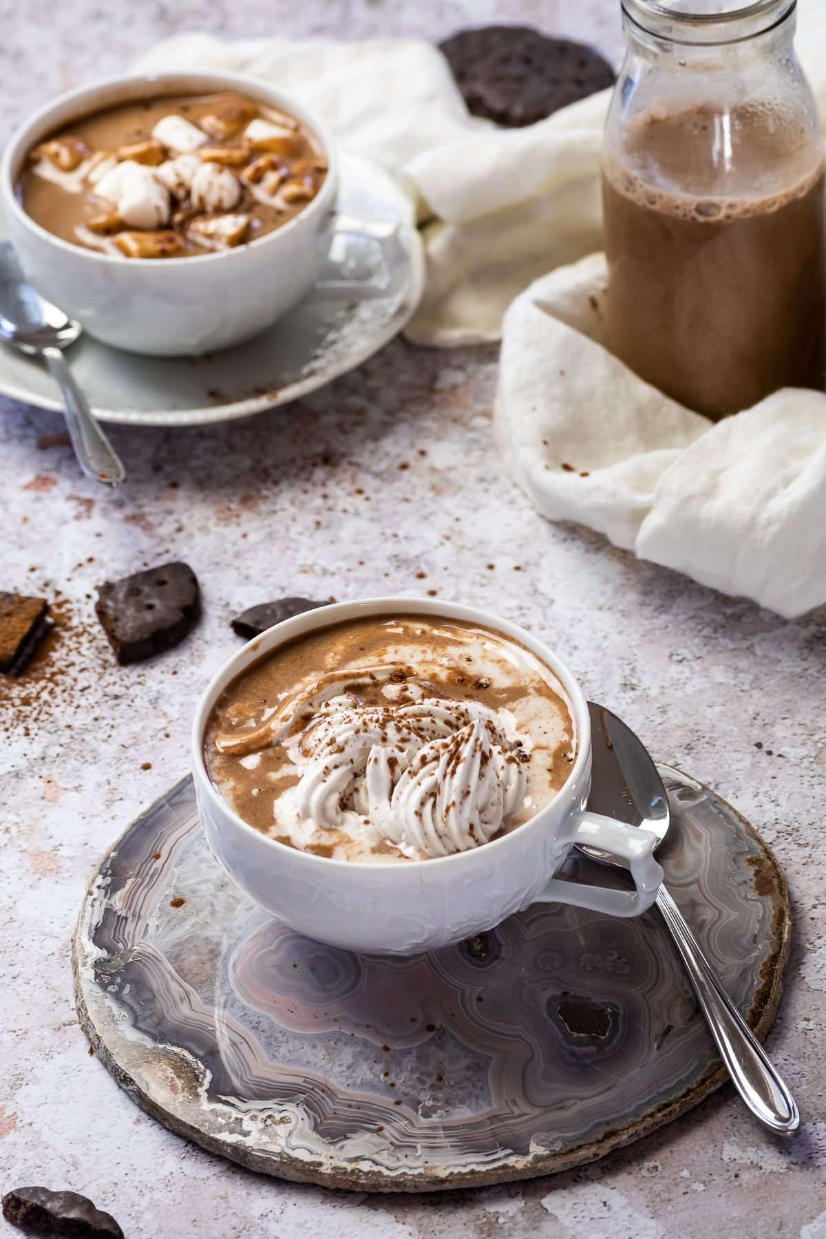 Creamy Vegan Hot Chocolate Refined Sugar Free In 2020 Almond Milk Recipes Vegan Holiday Recipes Chocolate Drink Recipes