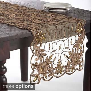 French Knot Design Table Topper Or Runner