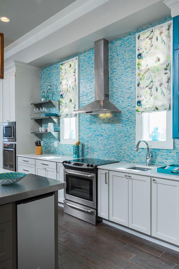turquoise kitchen backsplash   In Detail Interiors   Turquoise ...