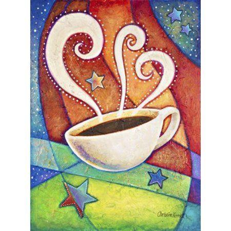 Five Star Coffee Canvas Art - Christine Kerrick (17 x 23)