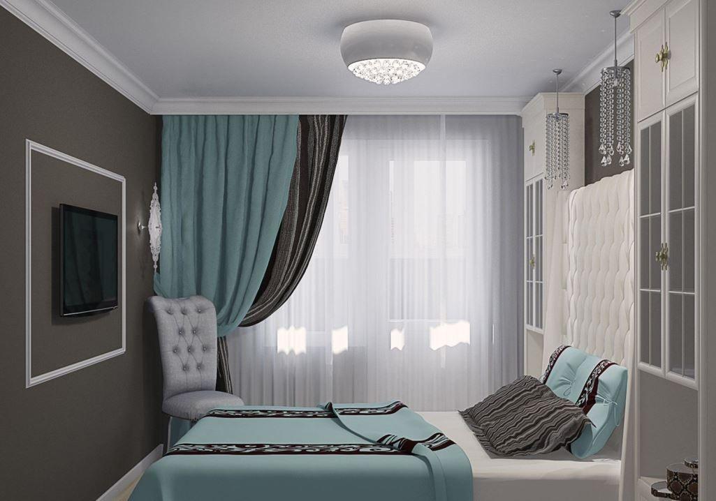 7161ff9ccb488 Бирюзовые шторы: фото в интерьере, картинки и цвета, темная бирюза в  гостиной, ткань в шоколадных тонах