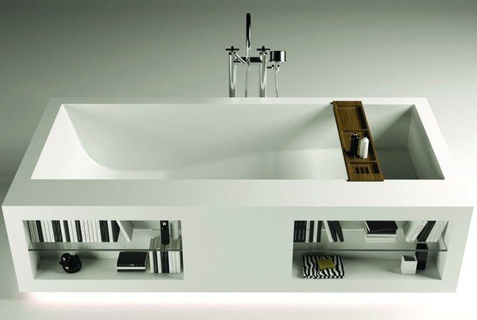 Fascinating bathtub designs with built-in storage space | Bathtubs ...