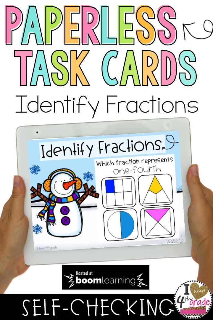 BOOM Cards Understanding Fractions | Student learning, Math and Students