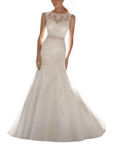 Dlass Elegant Straps Appliques Mermaid Wedding Dresses