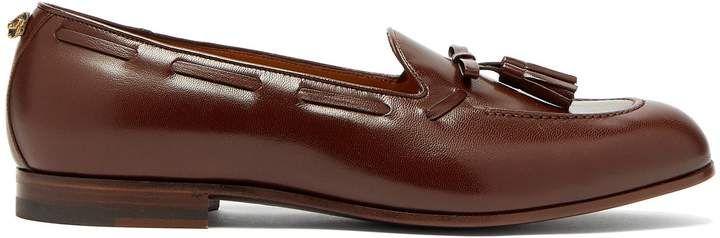 2d49fc6c4fa Gucci Loomis leather tassel loafers