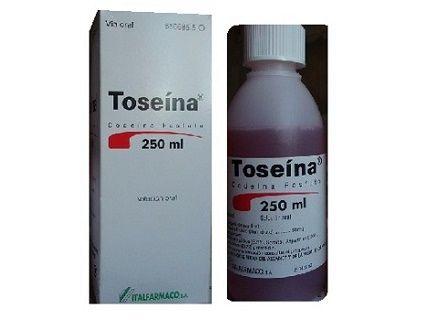 TOSEINA 250 ML, ANTITUSSIGENS. Codeína fosfato hemihidrato