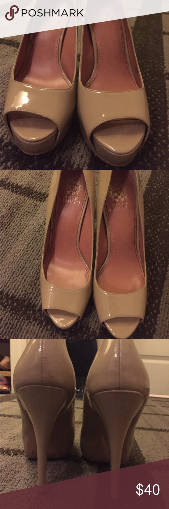 Vince Camuto shoes Almost perfect condition! So comfy and goes with anything Vince Camuto Shoes Heels